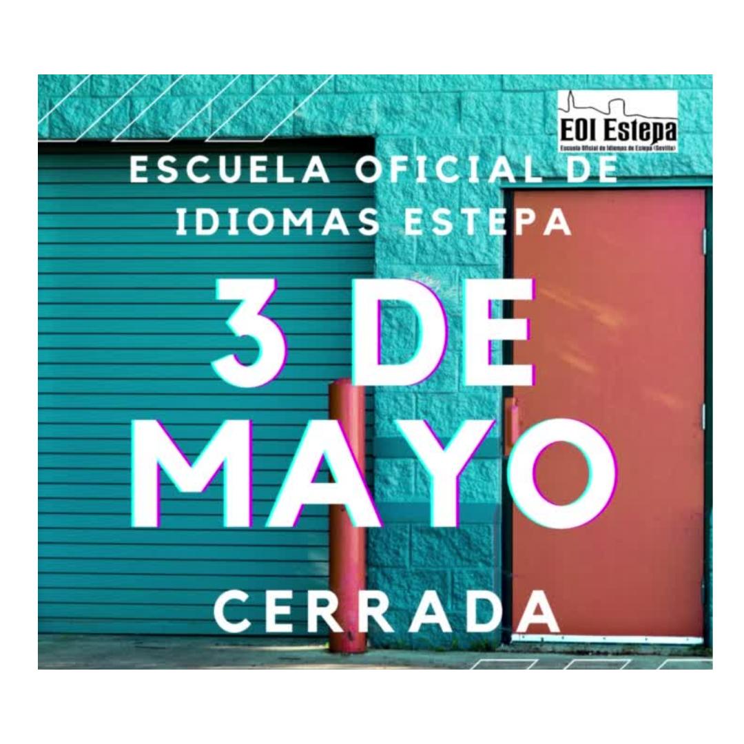 3 de mayo, día no lectivo en Estepa